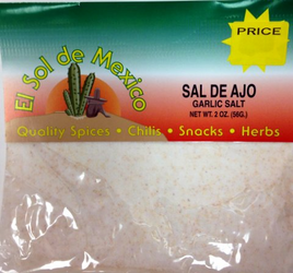 Garlic Salt by El Sol de Mexico - Sal de Ajo