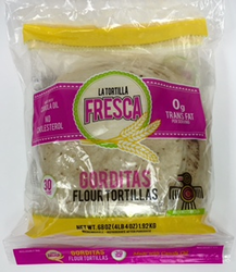 Flour Tortillas - Gorditas by La tortilla Fresca - 8""