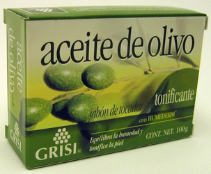 GRISI Aceite de Olivo - Olive Oil Bar Soap
