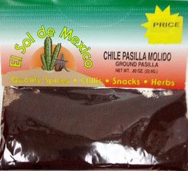 Ground Pasilla Chili Powder by El Sol de Mexico