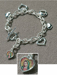 Guadalupe Bracelet - Our Lady of Guadalupe Bracelet with Charm