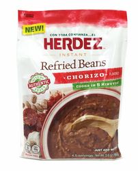 Herdez Instant Refried Beans Chorizo Flavored (Pack of 3)