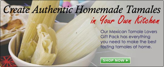 Make authentic Mexican tamales at home with our gift packs.