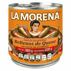 La Morena Jalapeno Peppers Filled with Cheese