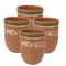 Lead Free Jarritos Mexico Clay Cup Small (Pack of 4) - image -1