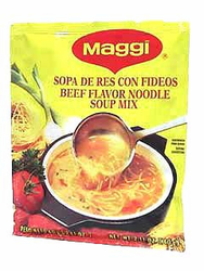 Maggi Beef Flavored Soup Mix with Noodles (Pack of 3)