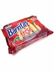 Marinela Barritas de Fresa - Strawberry Filled Fruit Bars - 6 Twin Packs