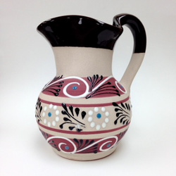 Mexican Ceramic Pitcher Lead Free Assorted Colors - 1 unit