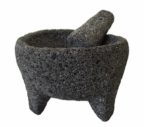 Molcajete de Piedra Negra / Black Stone Mortar & Pestle - Small