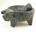 Molcajete Stone Mortar with Pig head