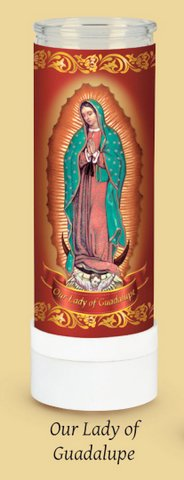 Our Lady of Guadalupe Electric Candle by Santos