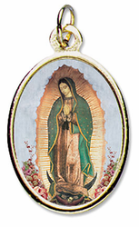 Our Lady of Guadalupe Epoxy Medal - Full body Virgin of Guadalupe