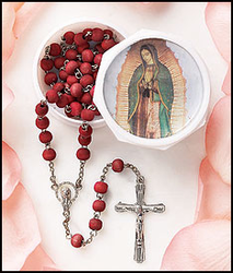 Our Lady of Guadalupe Rosary Rose Scented with box