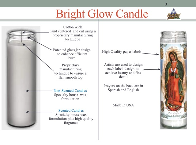 Candle Our Lady of Guadalupe - Veladora Virgen de Guadalupe White ...