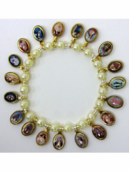 Religious Bracelet - Virgin Mary & Saints Bracelet with religious medals