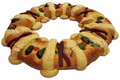 Rosca de Reyes - Three Kings Cake - Kings Day Mexican Sweet Bread