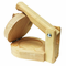 "Round Wood Tortilla Press to Make Sopes 5"" Small - image -1"