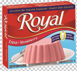 Royal Strawberry Gelatin with milk (Pack of 3)