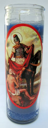 San Martin Caballero Candle (Pack of 6)
