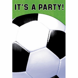 Soccer Fan It's a Party Invitations - 8 count