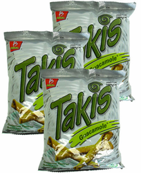 Takis Guacamole Flavored Rolled Tortilla Minis (Pack of 3)