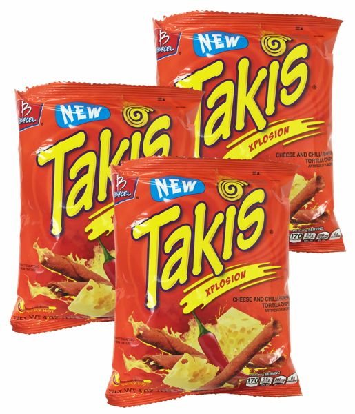 takis xplosion cheese and chili pepper by barcel pack of