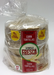 "Thick Corn Tortillas by La Tortilla Fresca - 6"" - Six Dozen"