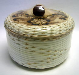 Tortillero de Mimbre Pirograbado / Burned Wicker Tortilla Warmer