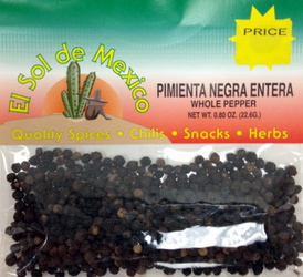 Whole Black Pepper by El Sol de Mexico