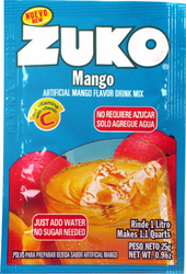 Zuko Mango Flavor Drink Mix (1 Liter / 0.9 oz) (Pack of 3)