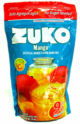 Zuko Mango Flavor Drink Mix (Makes 9 qt - 8.6 Liters)