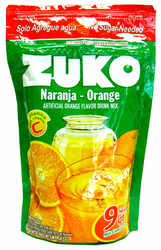 Zuko Orange Flavor Drink Mix (Makes 9 qt - 8.6 Liters)