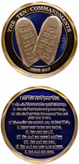 10 Commandments Challenge Coin