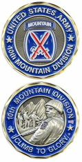 10th Mountain Division Challenge Coin