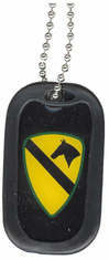 1st Cavalry Division Patch Enamel Dog Tag