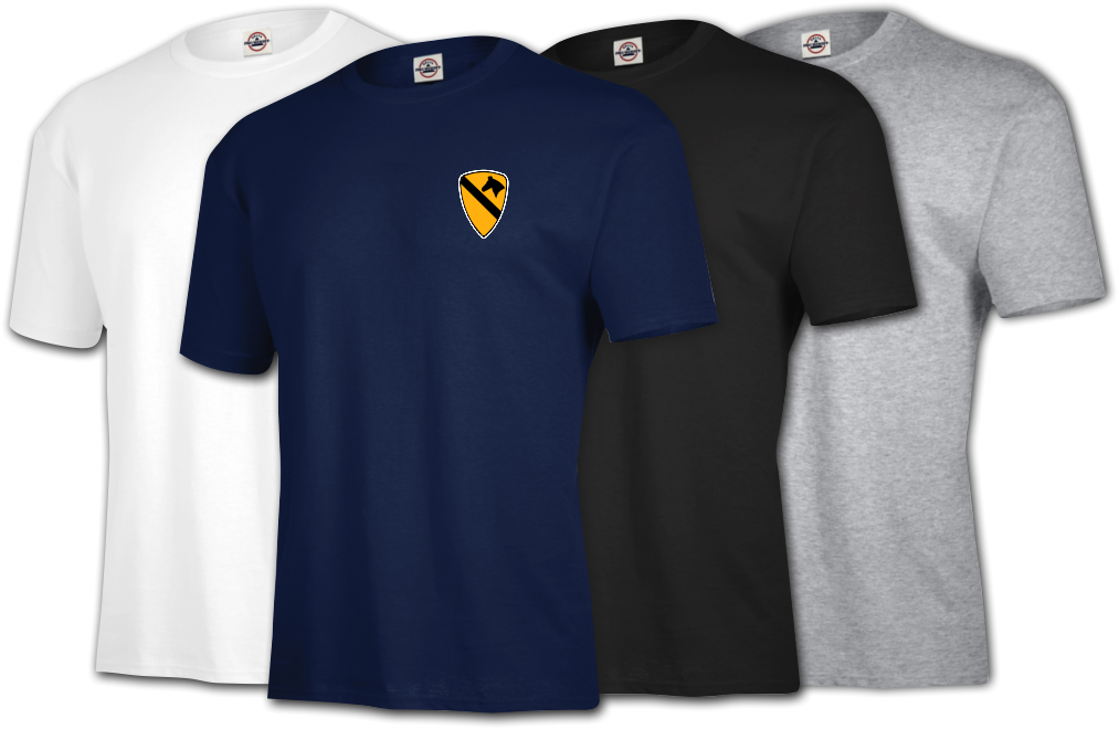 apparel army divisions insignia t shirts 1st cavalry division t shirt. Black Bedroom Furniture Sets. Home Design Ideas