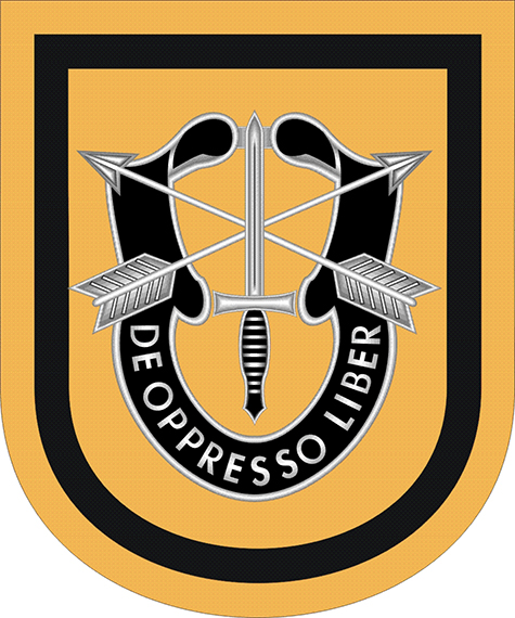 1st Special Forces Group Flash Decal