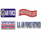 Air Force Bumper Stickers and Window Strips