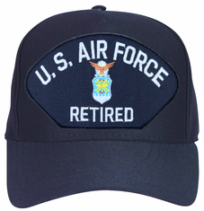 Air Force Emblematic Retired Silver Ball Cap Hat