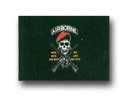 "AIRBORNE ""MESS WITH THE BEST""  3' x 5' MILITARY FLAG"