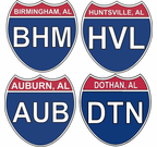 Alabama Interstate Stickers and Decals
