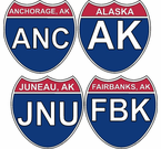 Alaska Interstate Stickers and Decals