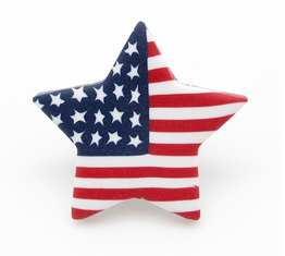 American Flag Star Lapel Pin