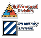 Army Division Contour Bumper Stickers