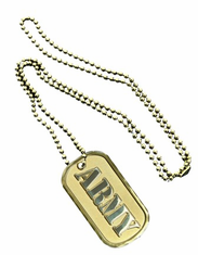 Army Gold Dog Tag