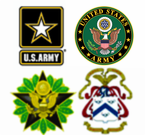 Army Headquarters Stickers Decals