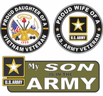 Army Proud Family Decals