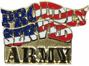"""Army Proudly Served 1"""" Lapel Pin"""