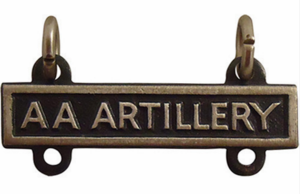 Army Qualification AA Artillery