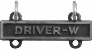 Army Qualification Bar Driver W